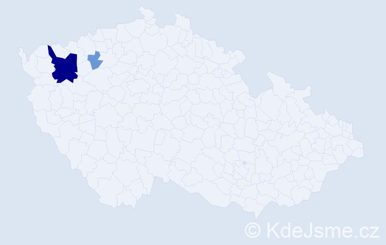 Příjmení: 'Dragušincová', počet výskytů 9 v celé ČR