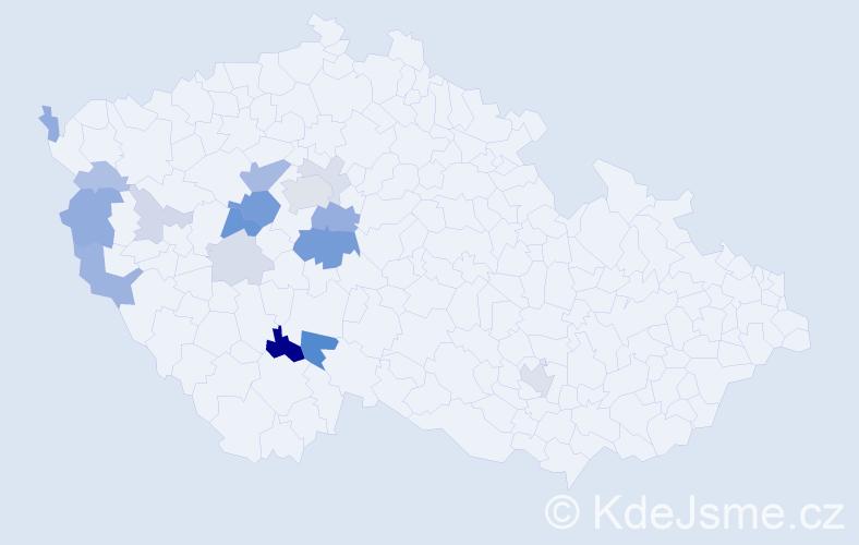 Příjmení: 'Drsek', počet výskytů 46 v celé ČR