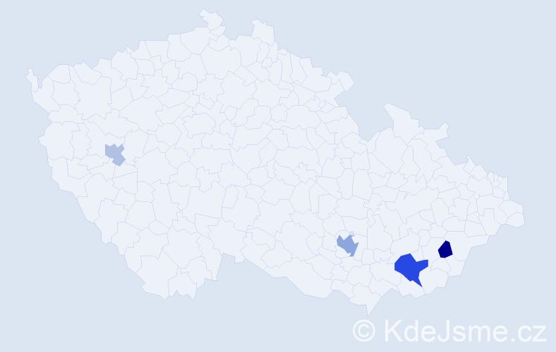 Příjmení: 'Campbellová', počet výskytů 8 v celé ČR
