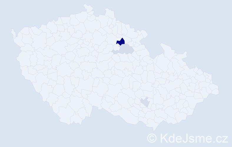 Příjmení: 'Chmatilová', počet výskytů 6 v celé ČR