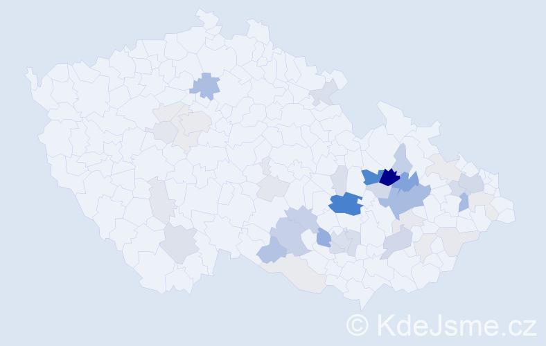 Příjmení: 'Axman', počet výskytů 119 v celé ČR