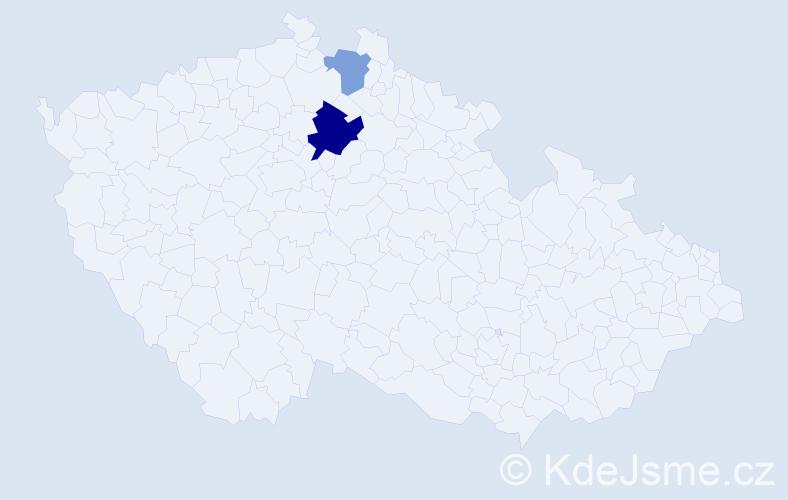 Příjmení: 'Barančoková', počet výskytů 8 v celé ČR