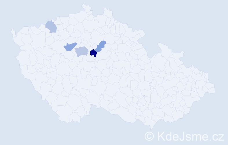 Příjmení: 'Janejová', počet výskytů 14 v celé ČR