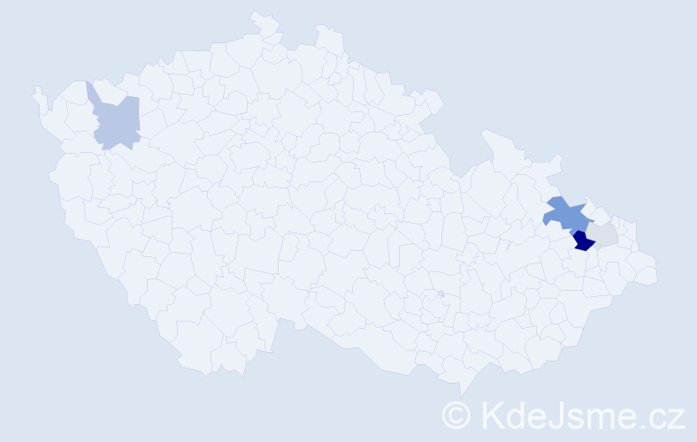 Příjmení: 'Balok', počet výskytů 8 v celé ČR