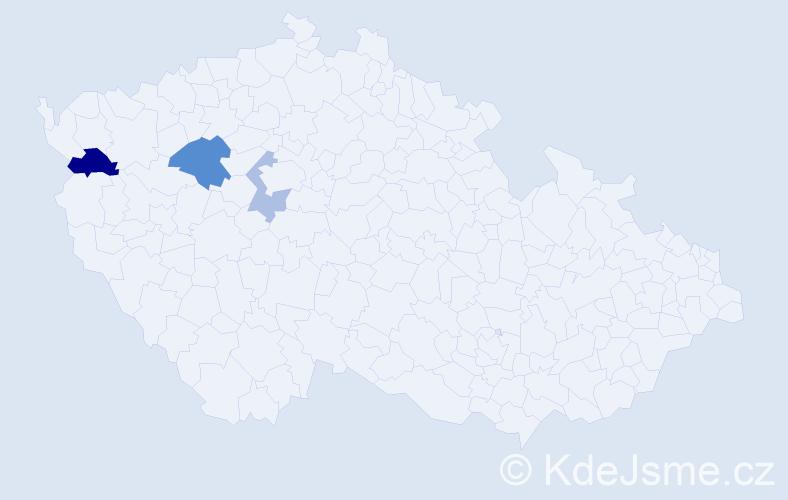 Příjmení: 'Kolesnyk', počet výskytů 5 v celé ČR