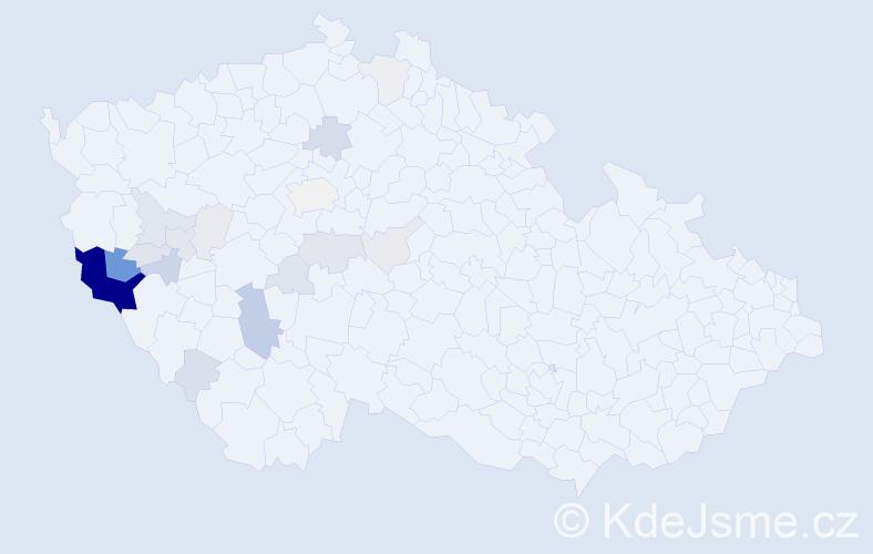 Příjmení: 'Konop', počet výskytů 80 v celé ČR
