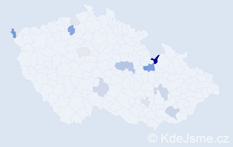 Příjmení: 'Golianová', počet výskytů 28 v celé ČR