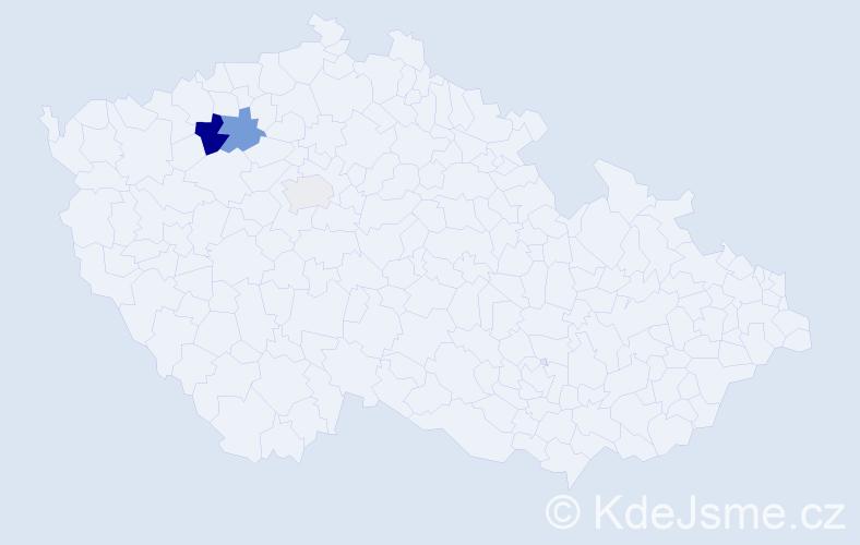 Příjmení: 'Ledwinka', počet výskytů 7 v celé ČR
