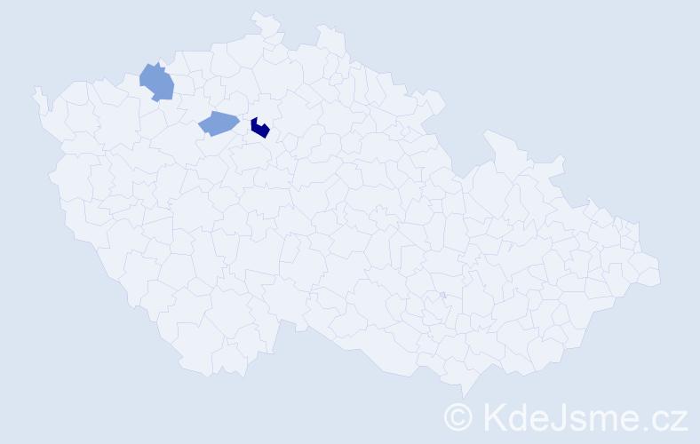 Příjmení: 'Kállayová', počet výskytů 6 v celé ČR