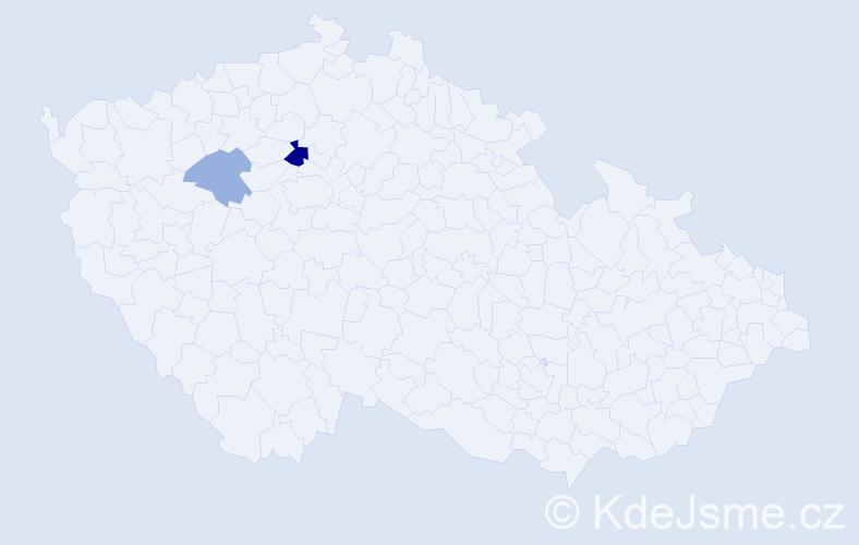 Příjmení: 'Deppe', počet výskytů 4 v celé ČR