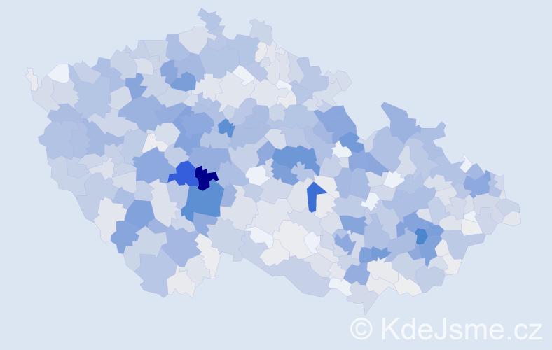 Příjmení: 'Mrázek', počet výskytů 3469 v celé ČR