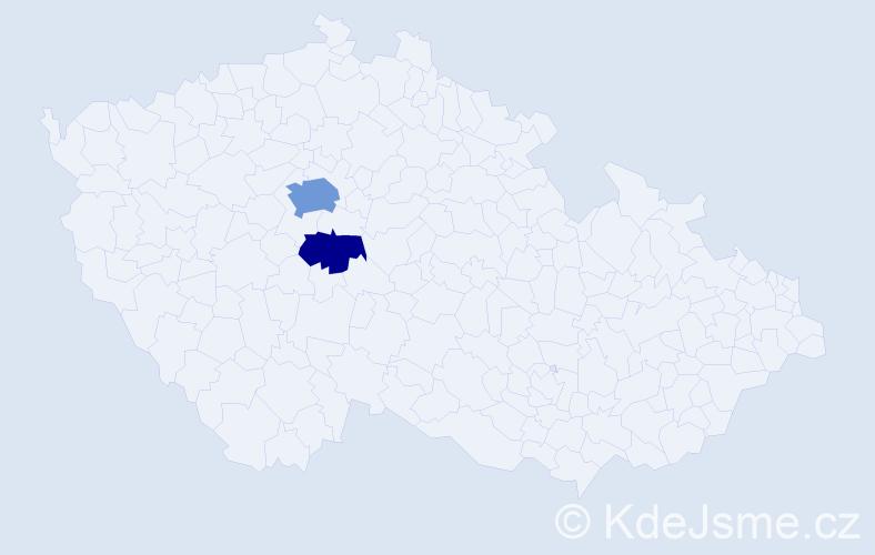 Příjmení: 'Janiuková', počet výskytů 5 v celé ČR