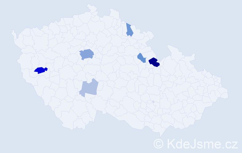 Příjmení: 'Falladová', počet výskytů 24 v celé ČR