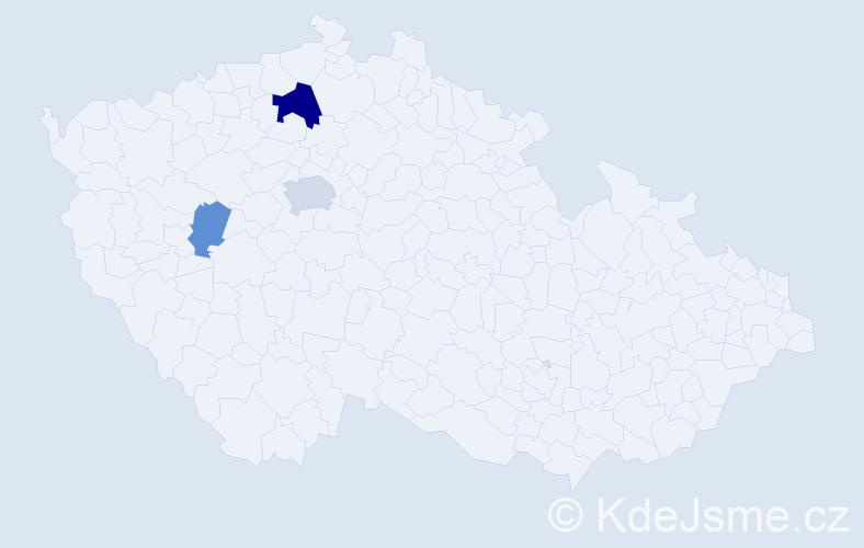 Příjmení: 'Legnavský', počet výskytů 6 v celé ČR