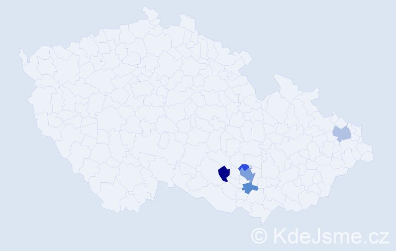 Příjmení: 'Leidorf', počet výskytů 10 v celé ČR