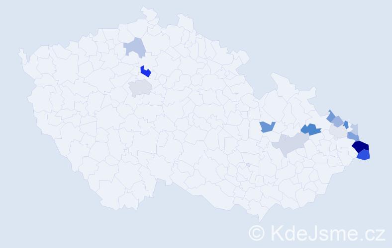 Příjmení: 'Adamiková', počet výskytů 31 v celé ČR