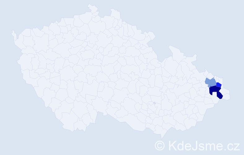 Příjmení: 'Guntková', počet výskytů 7 v celé ČR