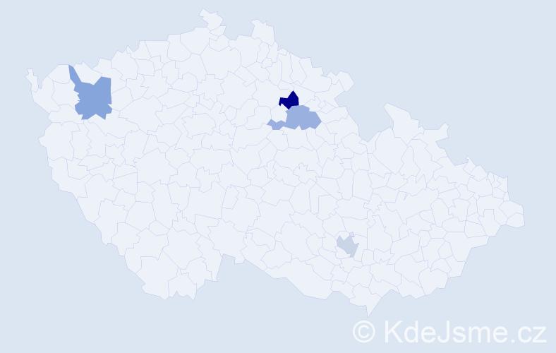 Příjmení: 'Gáplovská', počet výskytů 4 v celé ČR