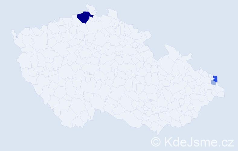 Příjmení: 'Jaroši', počet výskytů 9 v celé ČR