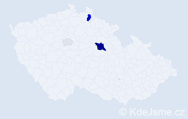 Příjmení: 'Boarová', počet výskytů 7 v celé ČR