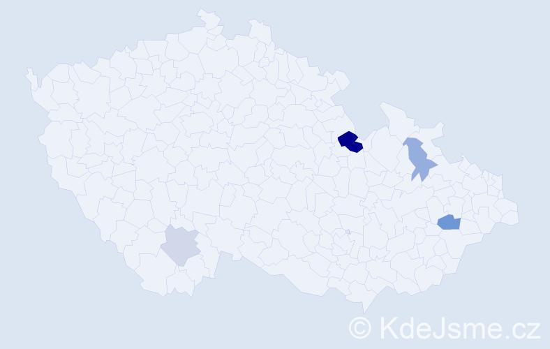 Příjmení: 'Kerschbaumová', počet výskytů 8 v celé ČR