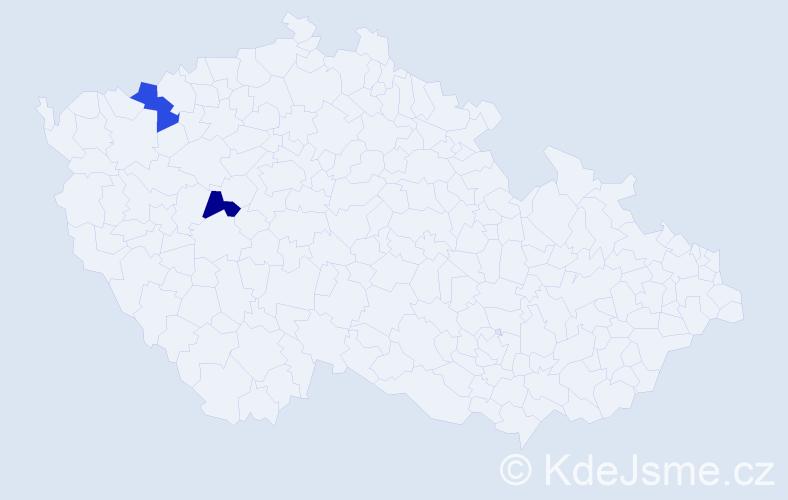 Příjmení: 'Hajduczký', počet výskytů 6 v celé ČR