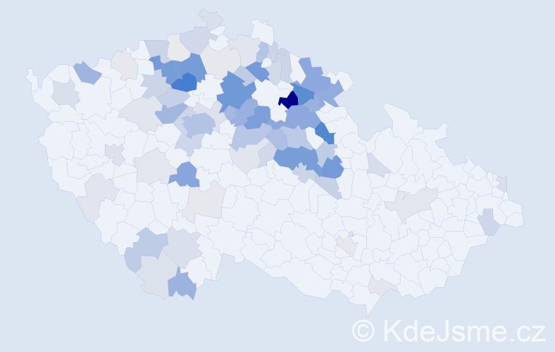Příjmení: 'Hlušička', počet výskytů 279 v celé ČR