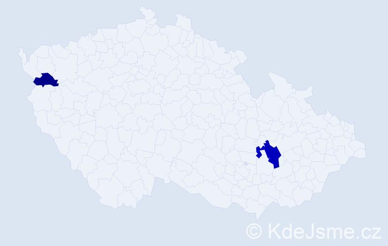 Příjmení: 'Knallová', počet výskytů 4 v celé ČR