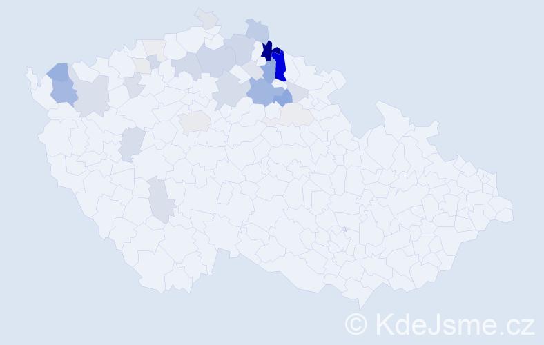 Příjmení: 'Harcuba', počet výskytů 98 v celé ČR