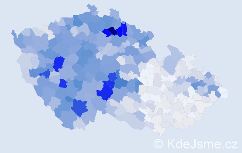 Příjmení: 'Brož', počet výskytů 4096 v celé ČR