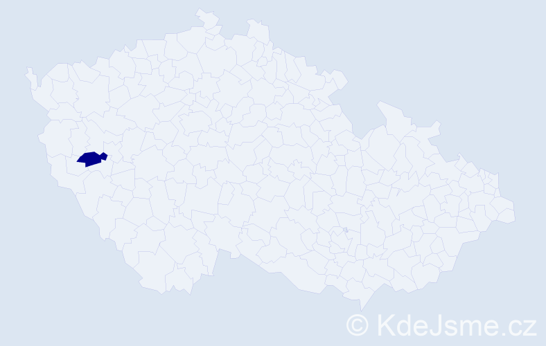 """Příjmení: '""""Bednářová Majerová""""', počet výskytů 1 v celé ČR"""