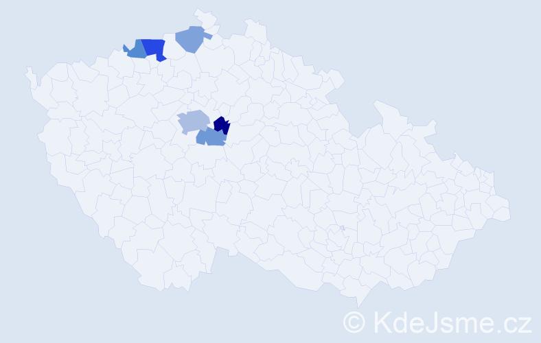 Příjmení: 'Drtikol', počet výskytů 12 v celé ČR