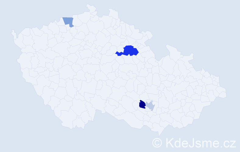 Příjmení: 'Lasnovská', počet výskytů 6 v celé ČR