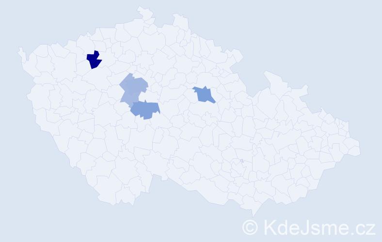 Příjmení: 'Eyberger', počet výskytů 14 v celé ČR