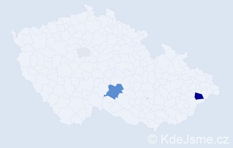 Příjmení: 'Achcenitová', počet výskytů 5 v celé ČR