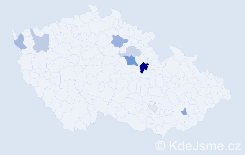 Příjmení: 'Jagob', počet výskytů 14 v celé ČR