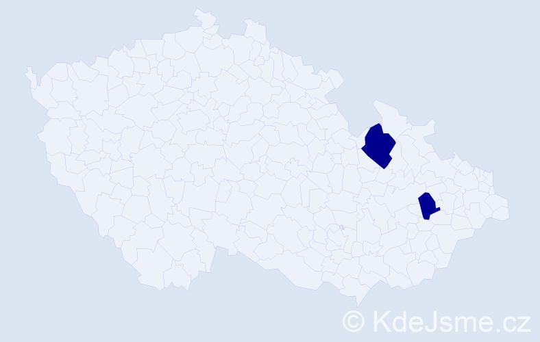 Příjmení: 'Balódyová', počet výskytů 3 v celé ČR
