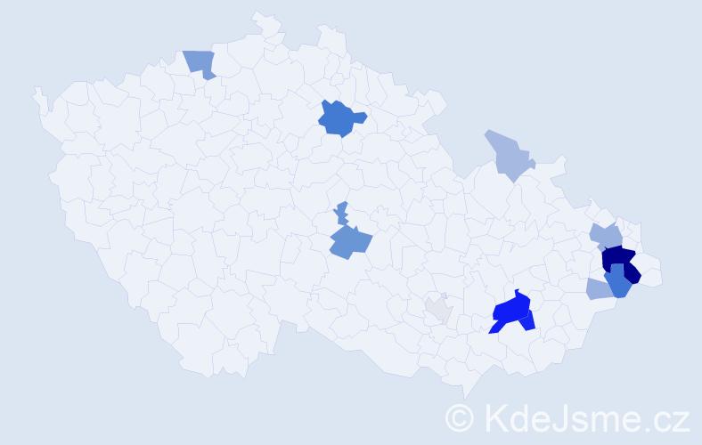 Příjmení: 'Hrtús', počet výskytů 48 v celé ČR