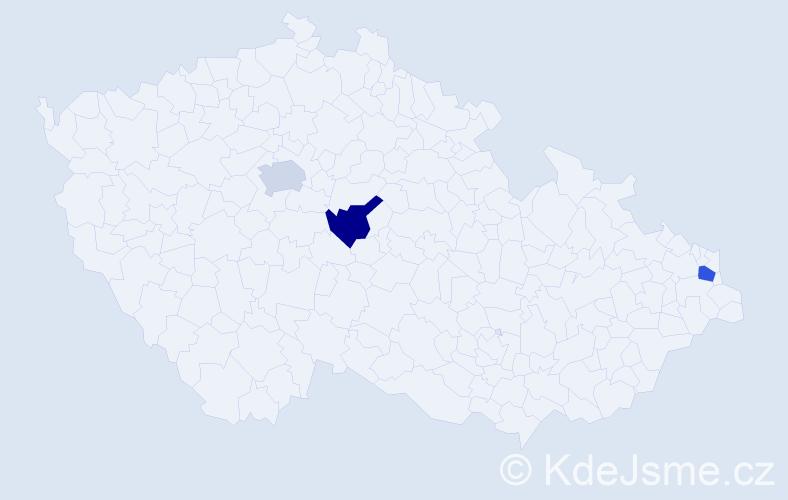 Příjmení: 'Grébecz', počet výskytů 3 v celé ČR