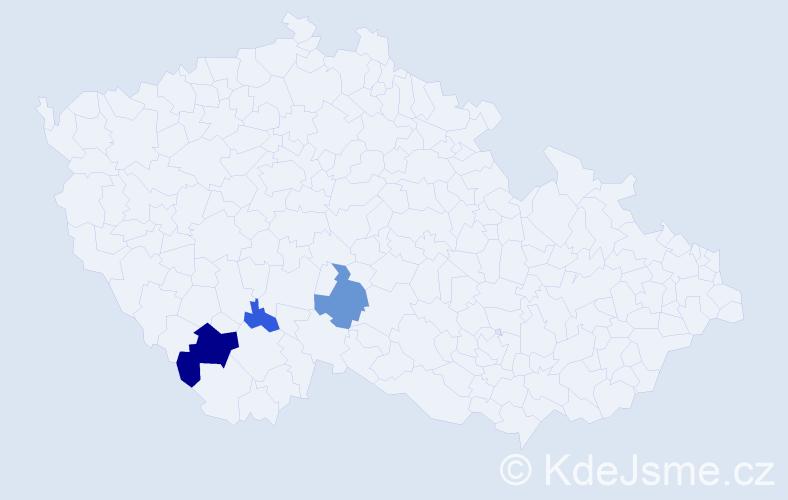 """Příjmení: '""""Le Guen""""', počet výskytů 7 v celé ČR"""