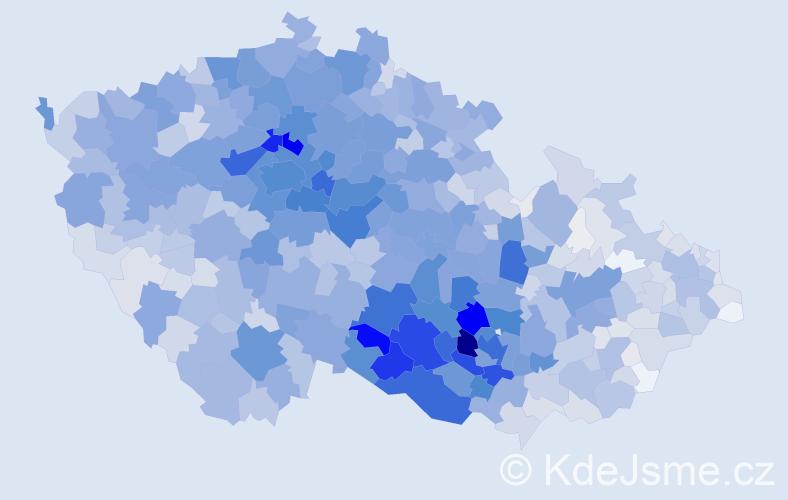 Příjmení: 'Pokorná', počet výskytů 11049 v celé ČR