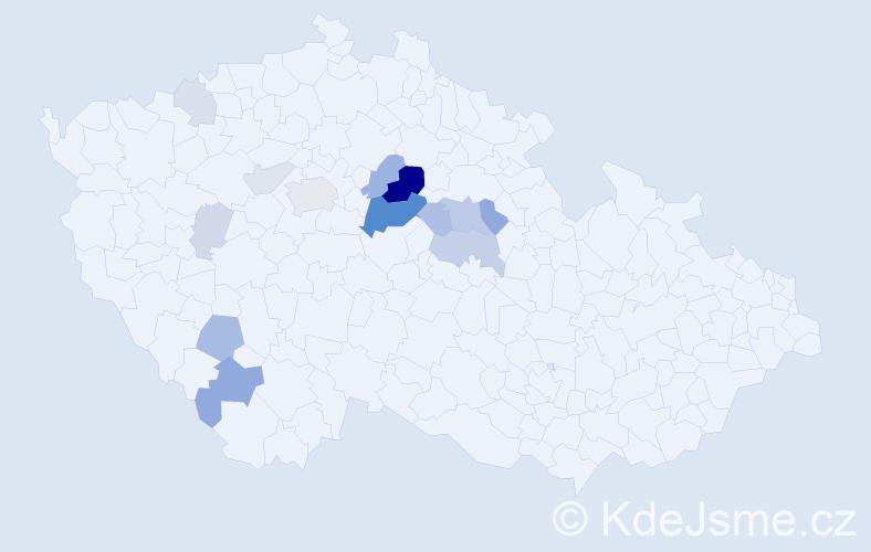 Příjmení: 'Hamrníková', počet výskytů 39 v celé ČR