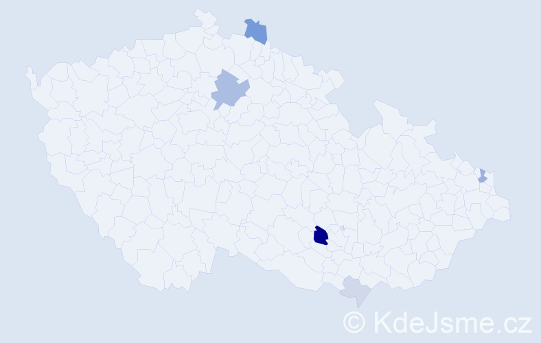 Příjmení: 'Izsóf', počet výskytů 14 v celé ČR
