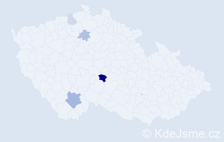 Příjmení: 'Hejdusová', počet výskytů 8 v celé ČR