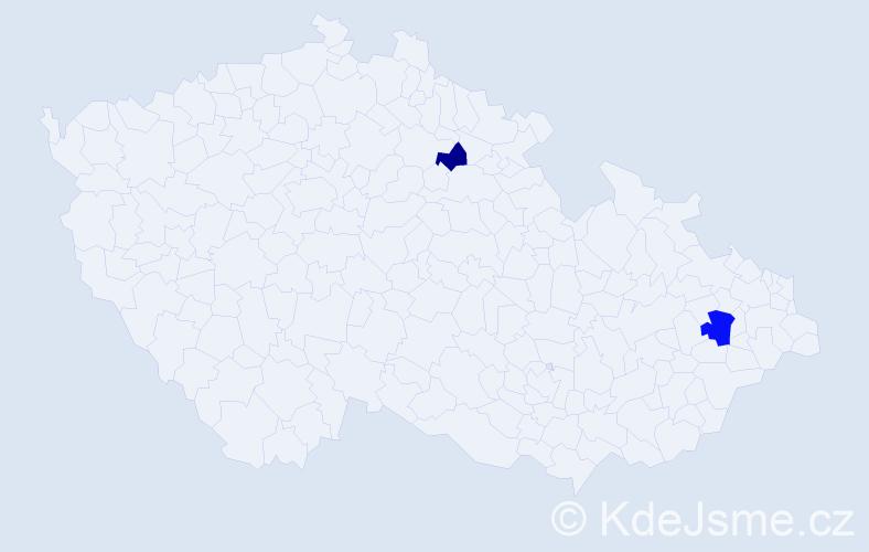 Příjmení: 'Gráfiková', počet výskytů 6 v celé ČR
