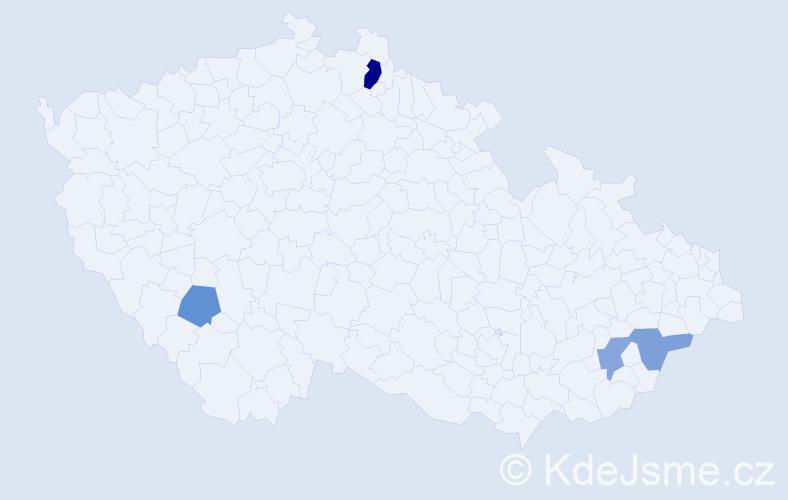 Příjmení: 'Hanuštiak', počet výskytů 6 v celé ČR