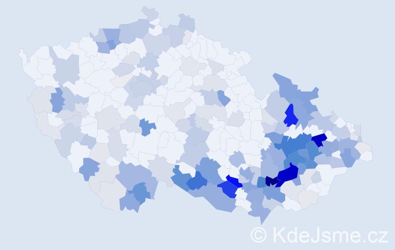 Příjmení: 'Sigmund', počet výskytů 667 v celé ČR