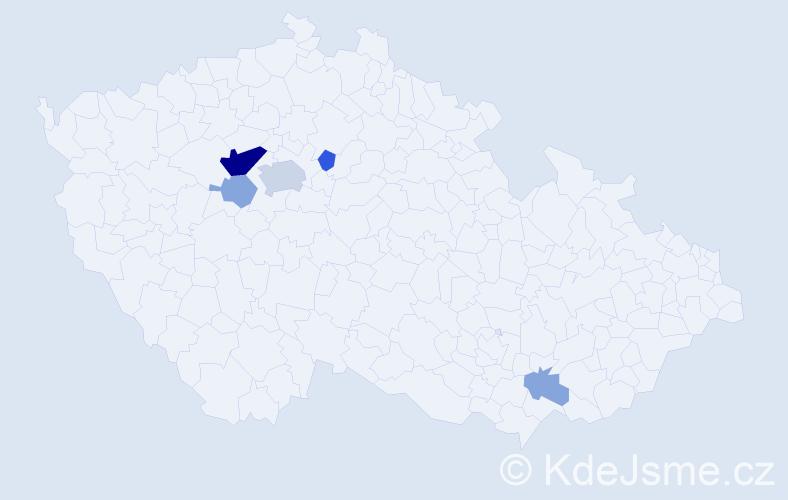Příjmení: 'Chýský', počet výskytů 14 v celé ČR