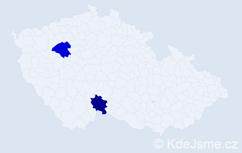 Příjmení: 'Hansalanderová', počet výskytů 4 v celé ČR