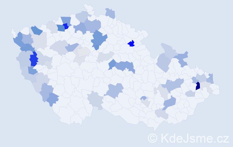 Příjmení: 'Krišková', počet výskytů 132 v celé ČR